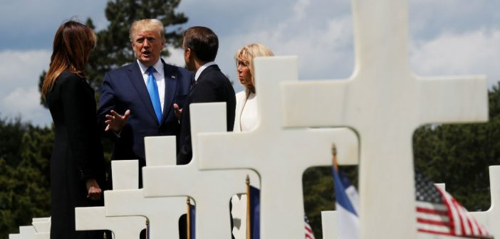 Trump, Macron y sus respectivas esposas